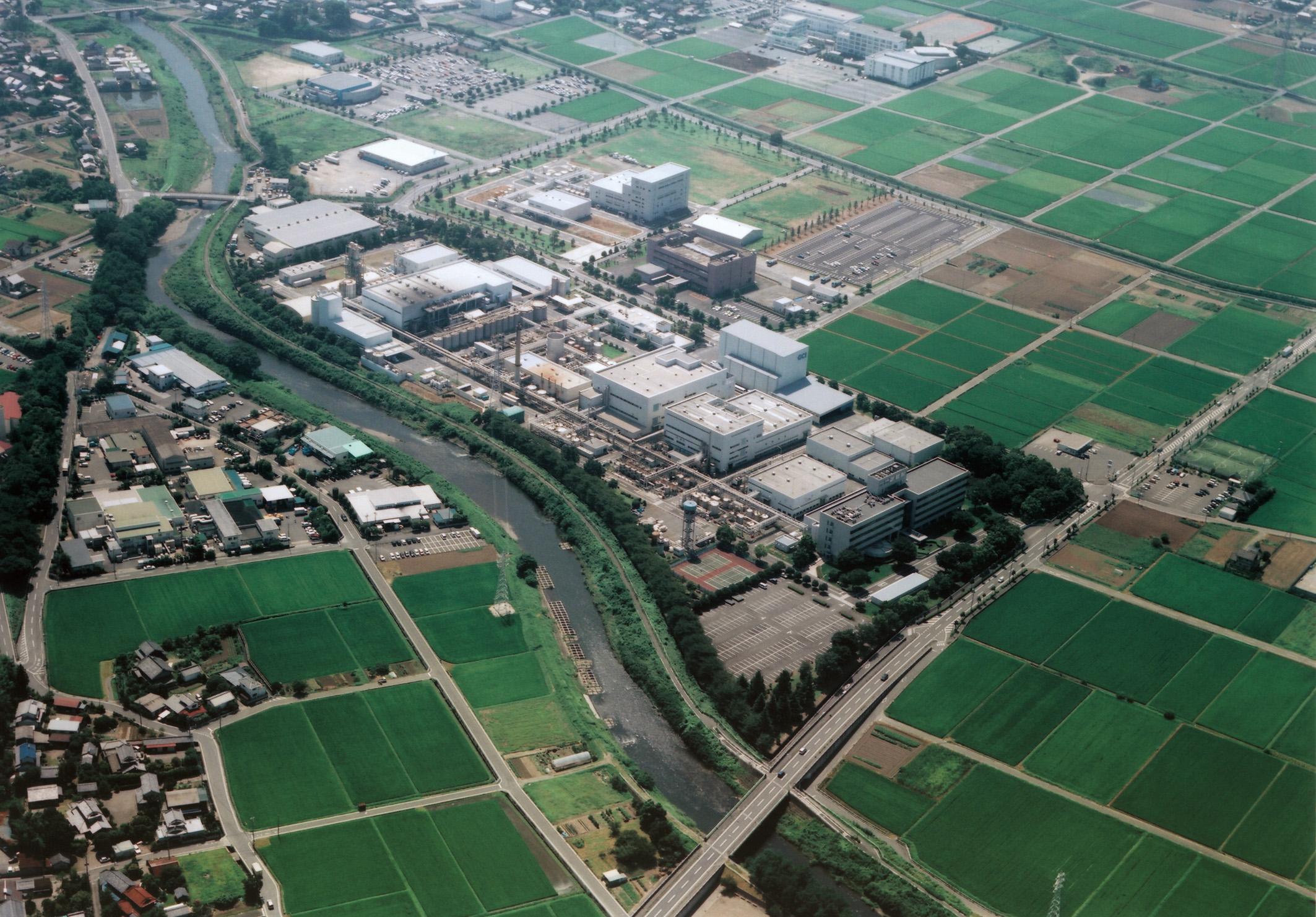 群栄化学 群馬工場航空写真